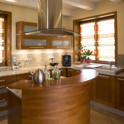 מטבח כפרי מודרני דגם עץ הספרדי