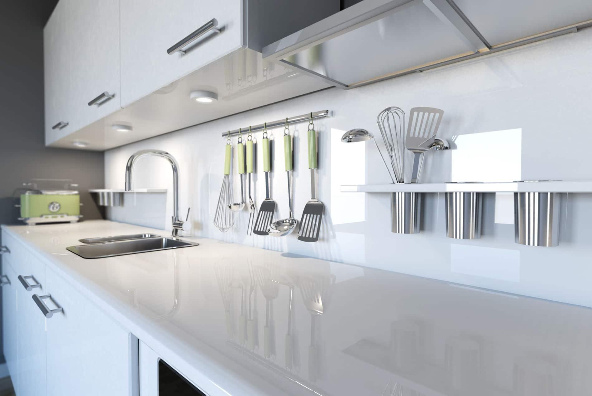 מטבח עם נגיות של קרמיקה בעיצוב מרשים דגם וויט קרמיק