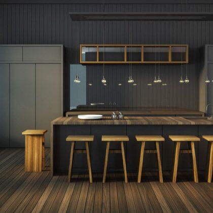 פנטרה מטבח קלאסי מעוצב מעץ
