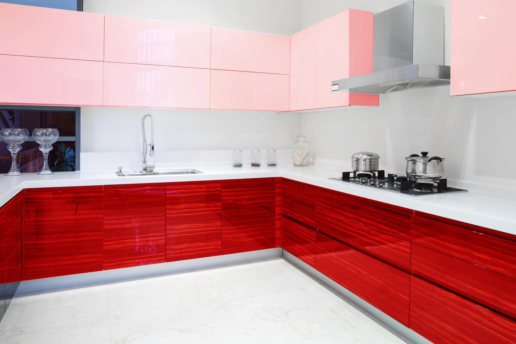 מטבח דגם יהלום אדום