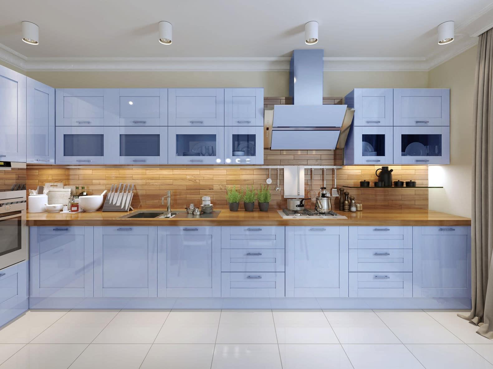 מטבח מודרני דגם רטרו בעיצוב מיוחד מעצב אישי צמוד