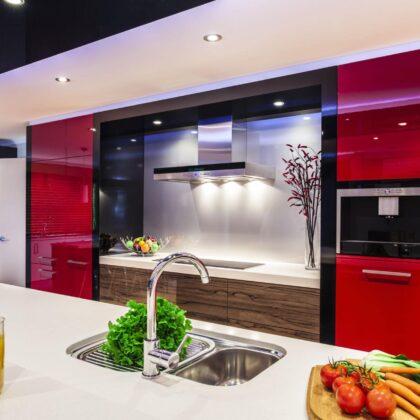 מטבח מושלם בצבע אדום דגם רד רוז