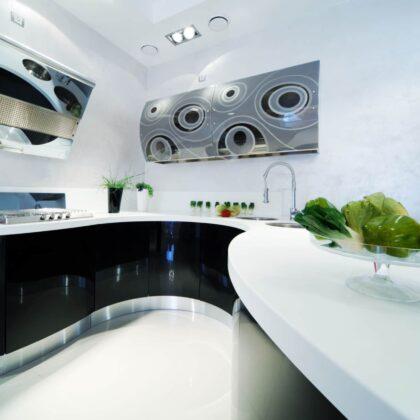מטבח פנינה מטבח ברמה גבוהה בעיצוב מודרני יוקרתי דגם פנינה