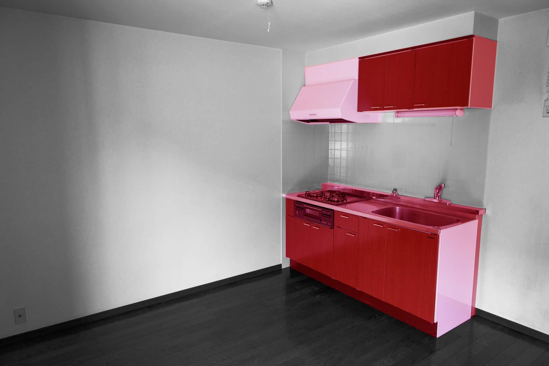 מטבחים מודרניים - מטבח מודרני באדום