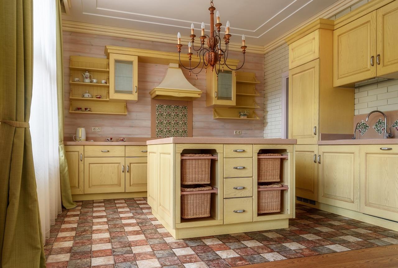 מטבח כפרי צבע בהיר מעץ דגם 35 CB