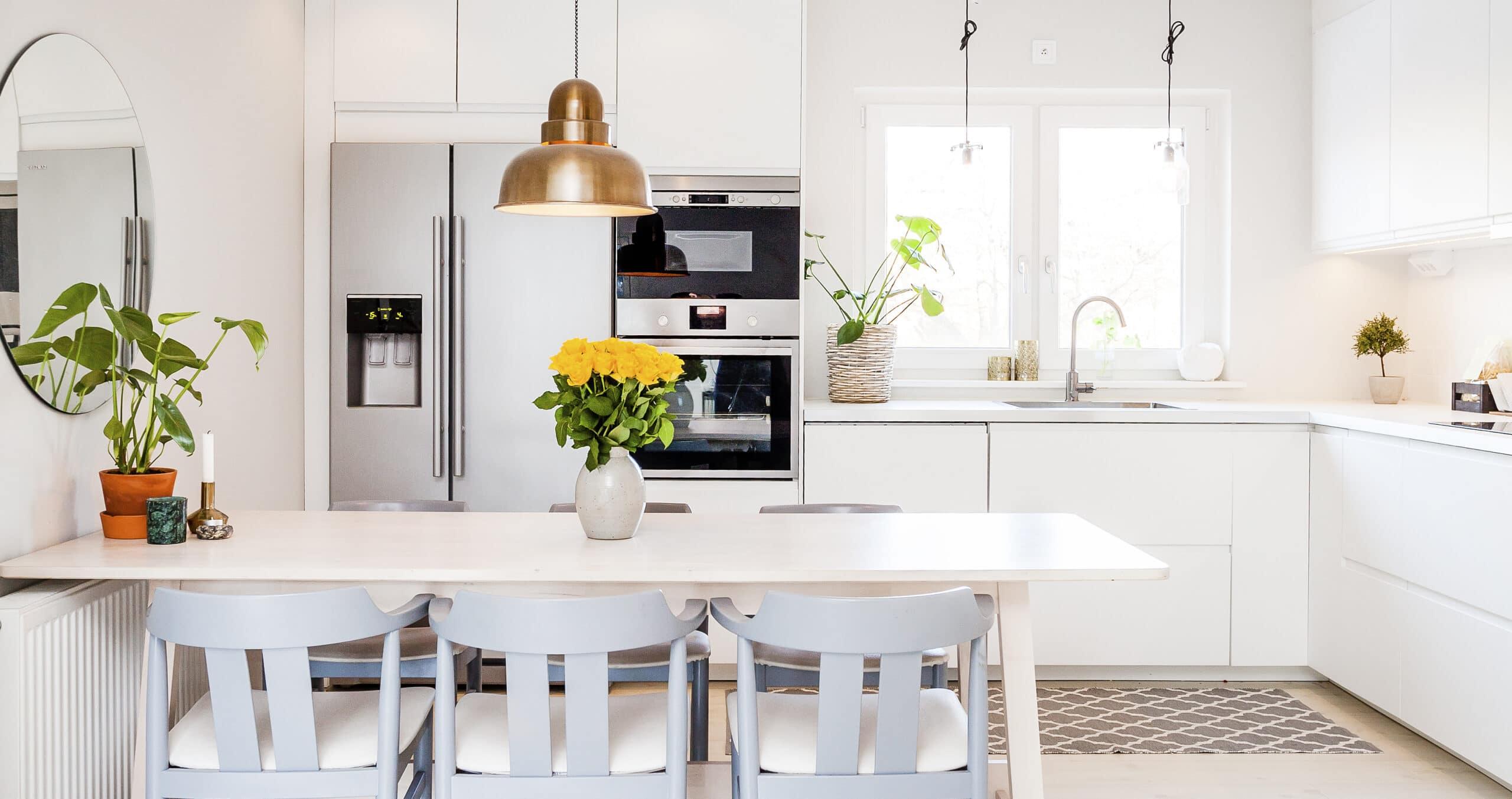 מטבח מודרני עם פרחים דגם 31 DS