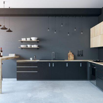 מטבח עם קיר שחור דגם 40 DS