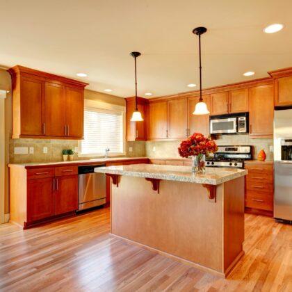 מטבח עץ מבריק דגם 13 sequoia