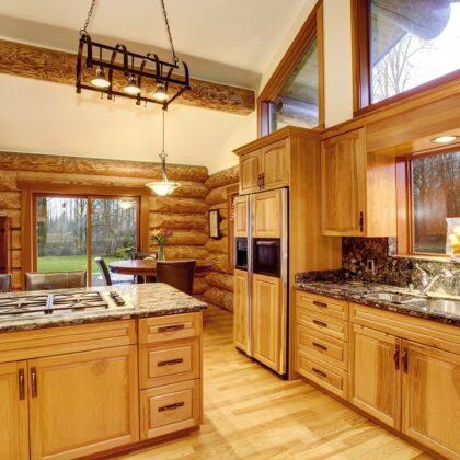 מטבח עם אבזור עץ דגם 21 sequoia