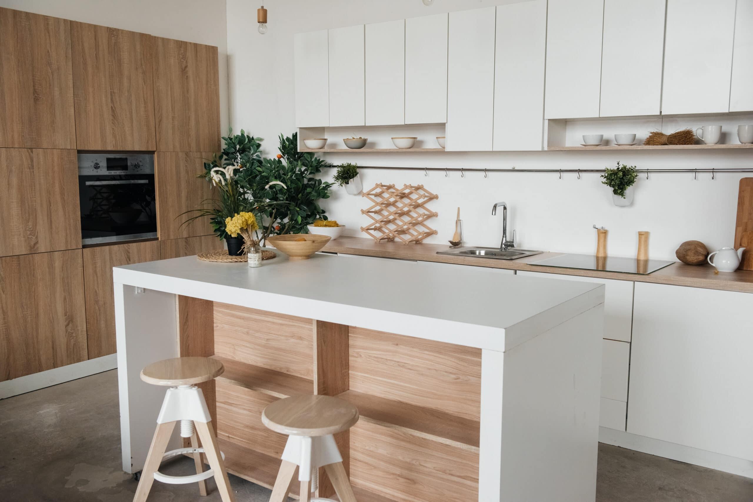 מטבח עץ לבן דגם 33 sequoia