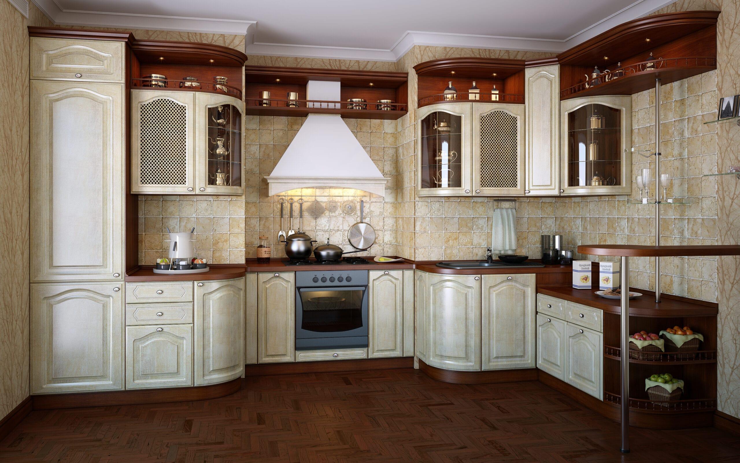 מטבח קלאסי עם תבליטי עץ דגם 12 Diana