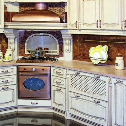 מטבח ויקטוריאני קלאסי עם דוגמאות דגם 13 Diana