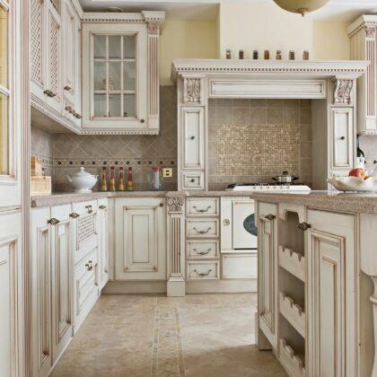 מטבח קלאסי ויקטוריאני לבן דגם 14 Diana