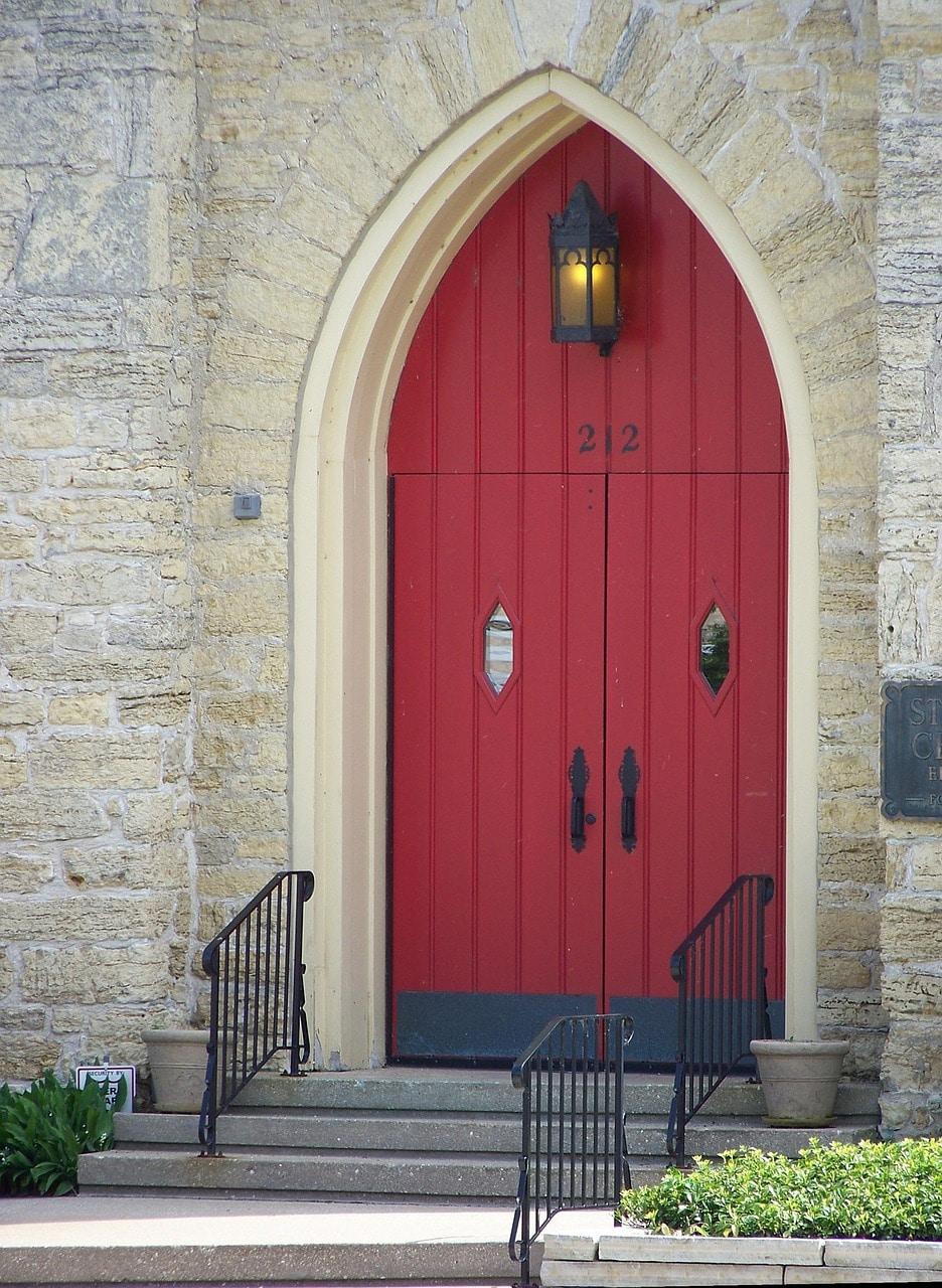 דלת פנים מעוצבת מעץ דגם U1