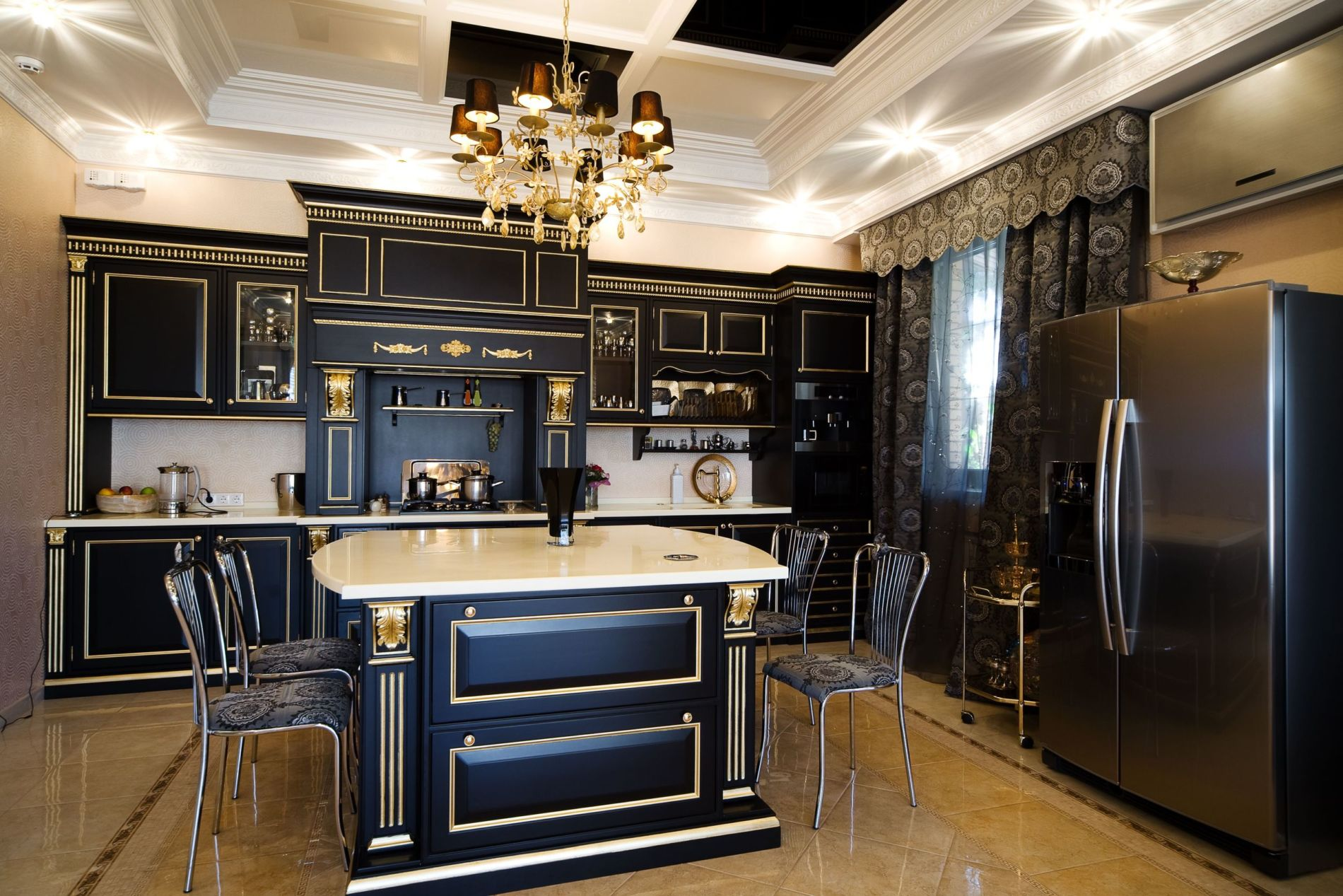 מדיסון המפורסם מטבח מושלם ועיצוב מרשים