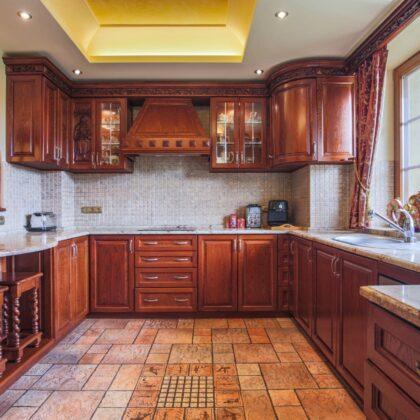 מטבח מושלם מעץ דגם רד ווד