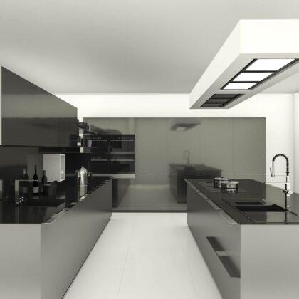 מטבח דגם שחור - לבן