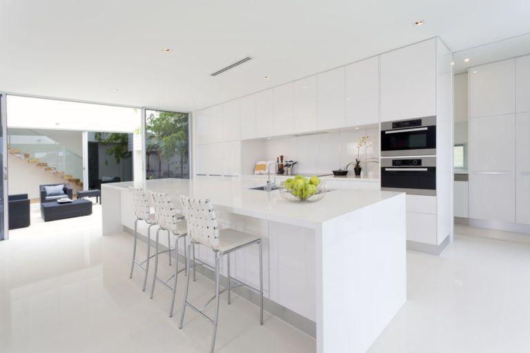מטבחים מודרניים ברמה מושלמת - מודל לבן נקי