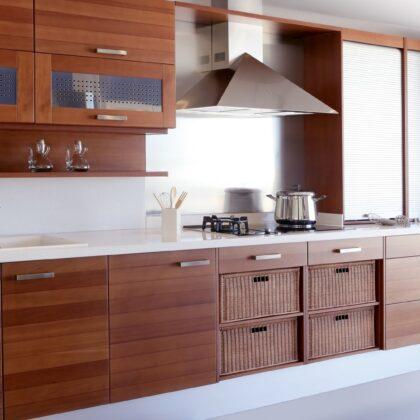 מטבח מעץ מלא דגם לואי ויטון ברמה גבוהה