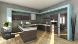 Modern Kitchen In Grey Colors