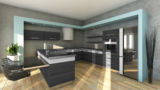 Modern Kitchen In Grey Colours