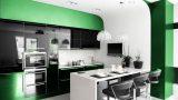 מטבח מודרני יוקרתי ירוק