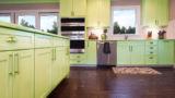 מטבח בצבע ירוק דגם הוואי