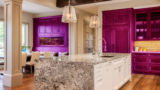 Beautiful Kitchen in New Luxury Home with Island, Sink, Cabinets