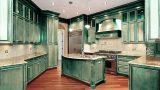 מטבח מוסקין ירוק